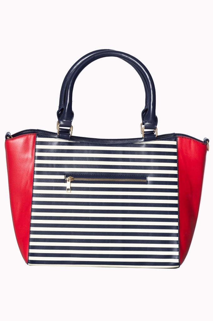 Banned Vintage Nautical Bag Red Striped|Poisonkandyklothing