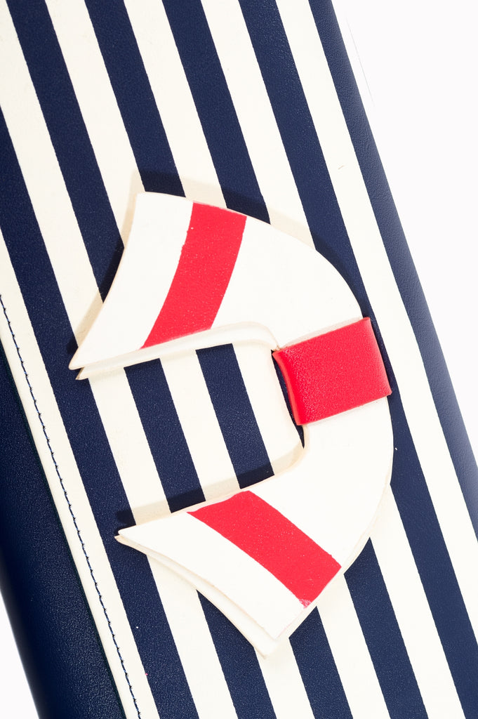 Banned Vintage Nautical Wallets Navy Stiped|Poisonkandyklothing