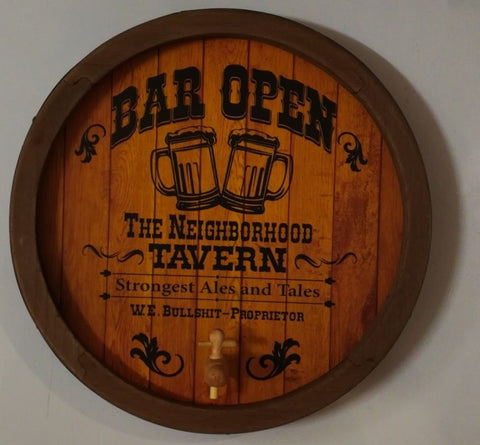 Bar Open - Barrel End