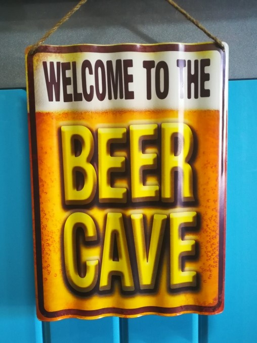 Beer Cave - Corrugated Tin Sign Poison kandy Klothing