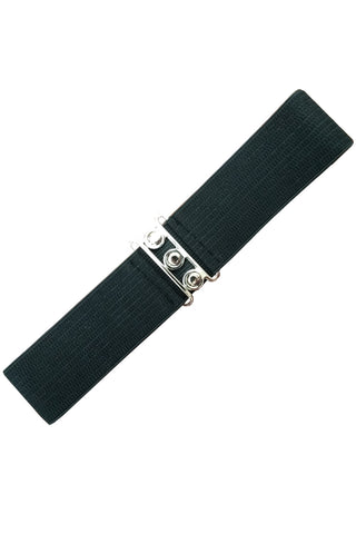Ladies Belt - Banned Apparel Vintage Stretch Black Belt