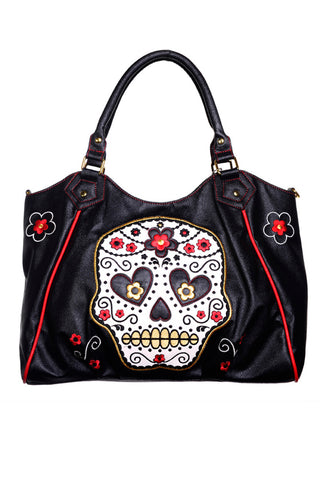 Ladies Handbag - Banned Sugar Skull Shoulder Bag
