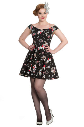 Hell Bunny Blitzen Mini Dress Black SALE ITEM NO RETURNS