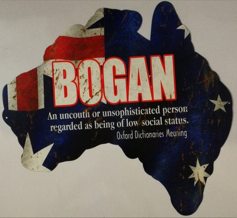 Aussie Map - Austrailian Bogan Tin Sign
