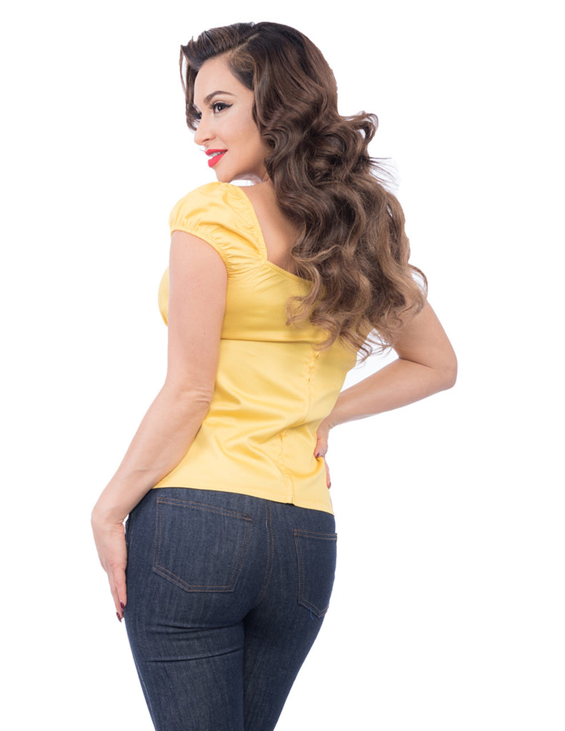 Steady Clothing - Bonnie Bumpkin Top Yellow|Poisonkandyklothing