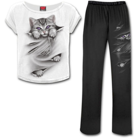 Bright Eyes Gothic Pyjama Set - Long Pants