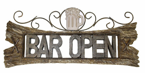 Bar Open Colonial Sign -  3-D Wall Sign