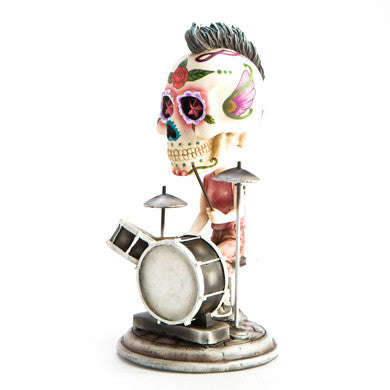 Candy Skull Bobble Head Drummer
