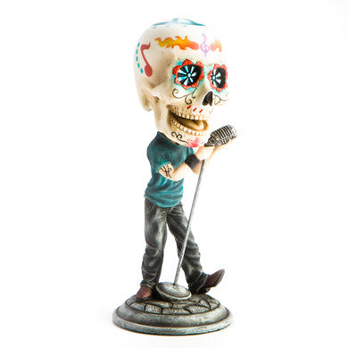 Candy Skull Singer Bobble Head