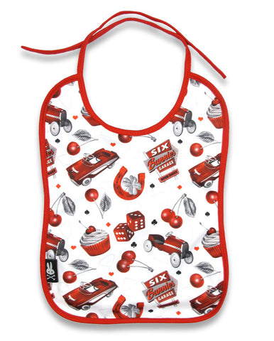 Six Bunnies Baby Bib -Cherry Garage|Poisonkandyklothing