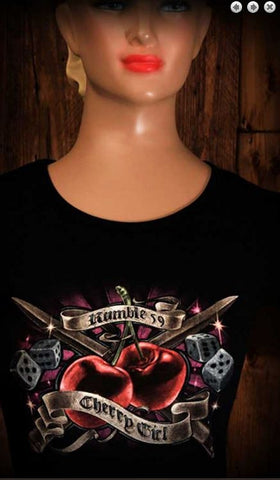 Ladies Tee - Cherry Girl Rumble 59 : Price Reduced