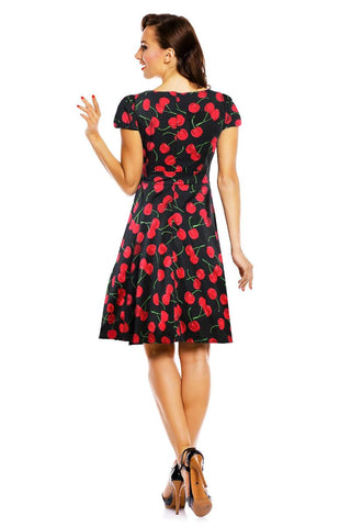 D&D Claudia Flirty Fifties Dress Cherry|Poisonkandyklothing