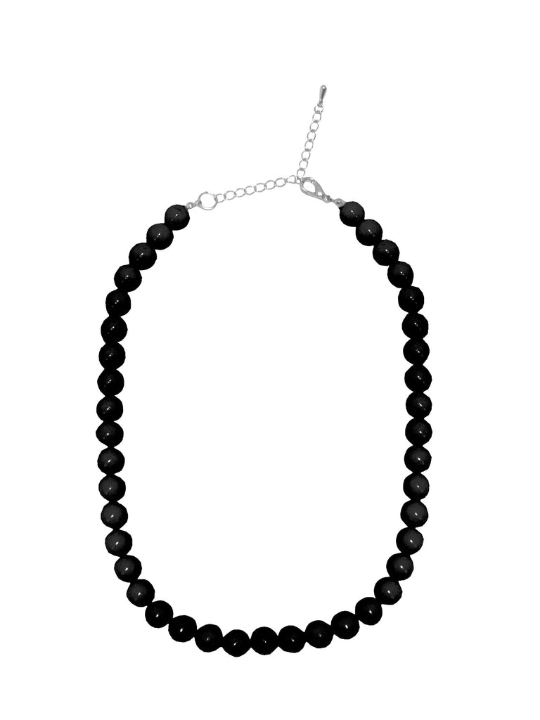 Collectif Coloured Bead Necklace Black