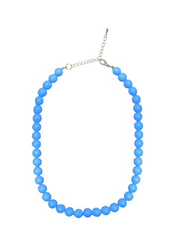 Collectif Coloured Bead Necklace Blue