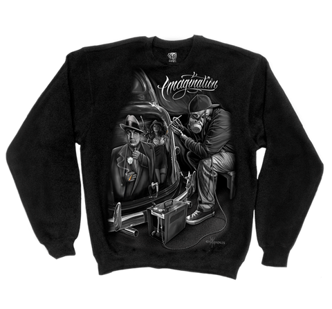 DGA- Mens Long sleeve Crewneck - Imagination Skull