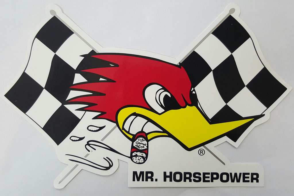 Sticker Decal  - Mr. Horsepower Checkered Flag Large