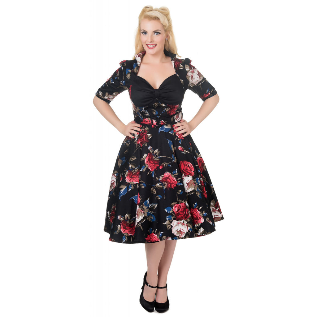 Dolly & Dotty Lillian Vintage Swing Dress Floral|Poisonkandyklothing