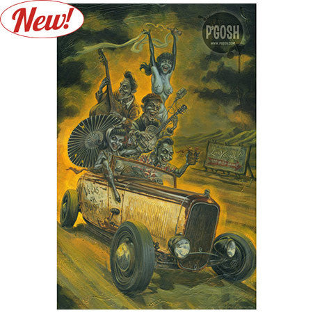Prints - Doug P'gosh Zombilly Holiday Poster