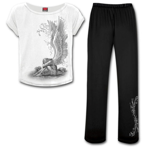 Enslaved Angel Gothic Pyjama Set - Long Pants