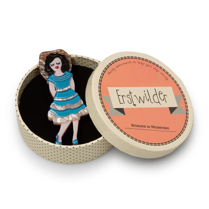 Erstwilder Rockabilly Queen Brooch Little Bit Country|Poisonakandyklothing