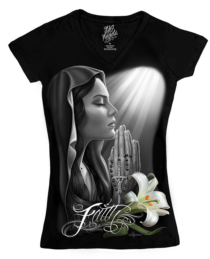 Ladies Tee - DGA V-Neck Faith