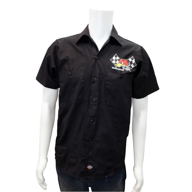 Mr Horsepower Button up Shirt - Black Cross Flag - MDS2