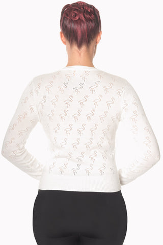Banned Clothing - Goddess Ladies Cardigan Off White