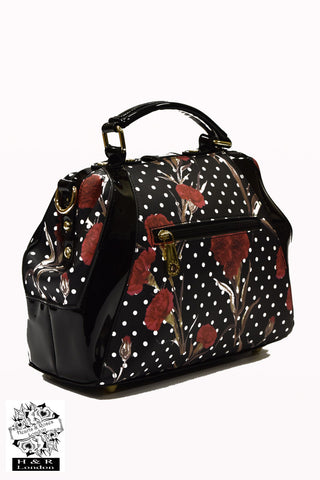 Hearts & Roses Greenwich Rosa Handheld Bag|Poisonkandyklothing