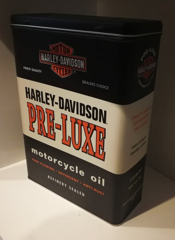 Tin Container - Harley Davidson  Pre-Luxe Motorcycle Oil Poison Kandy Klothing Australia