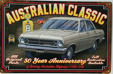 HR Holden Sedan- Tin Sign