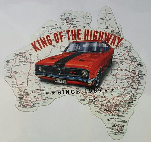 Aussie Map - King Of The Highway HT 350 Tin Sign