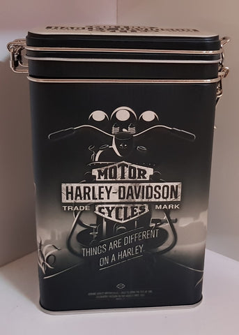 Tin Container Clip Top - Harley Davidson