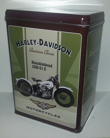Tin Container - Harley Davidson  1936 Knucklehead