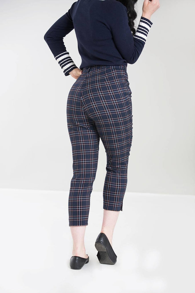 Hell Bunny - Ladies Pebbles Cigarette Trousers|Poisonkandyklothing