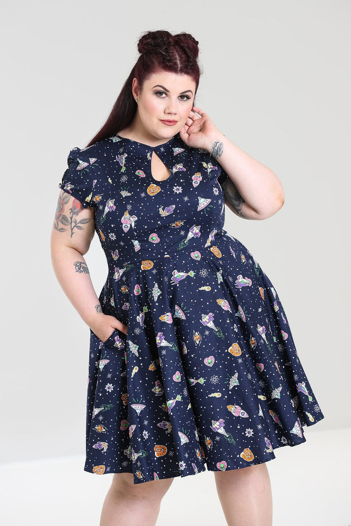 Hell Bunny Atomic Mid Dress Plus Size