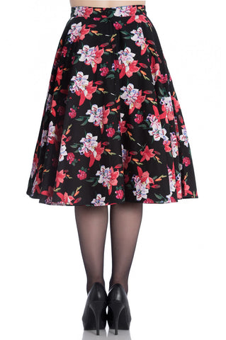 Hell Bunny - Liliana 50's Skirt Black Plus Size|Poisonkandyklothing