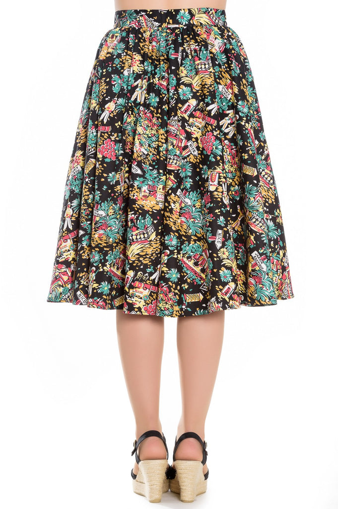 Hell Bunny Monte Carlo Skirt Black|Poisonkandyklothing