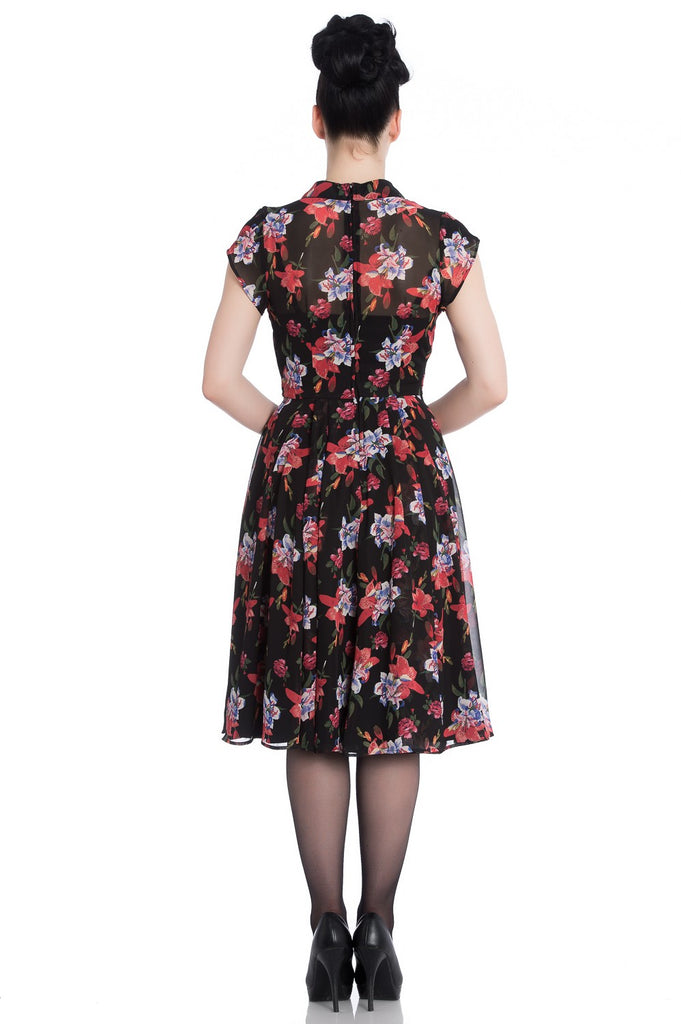 Hell Bunny Ladies Rayna Dress Black|Poisonkandyklothing.