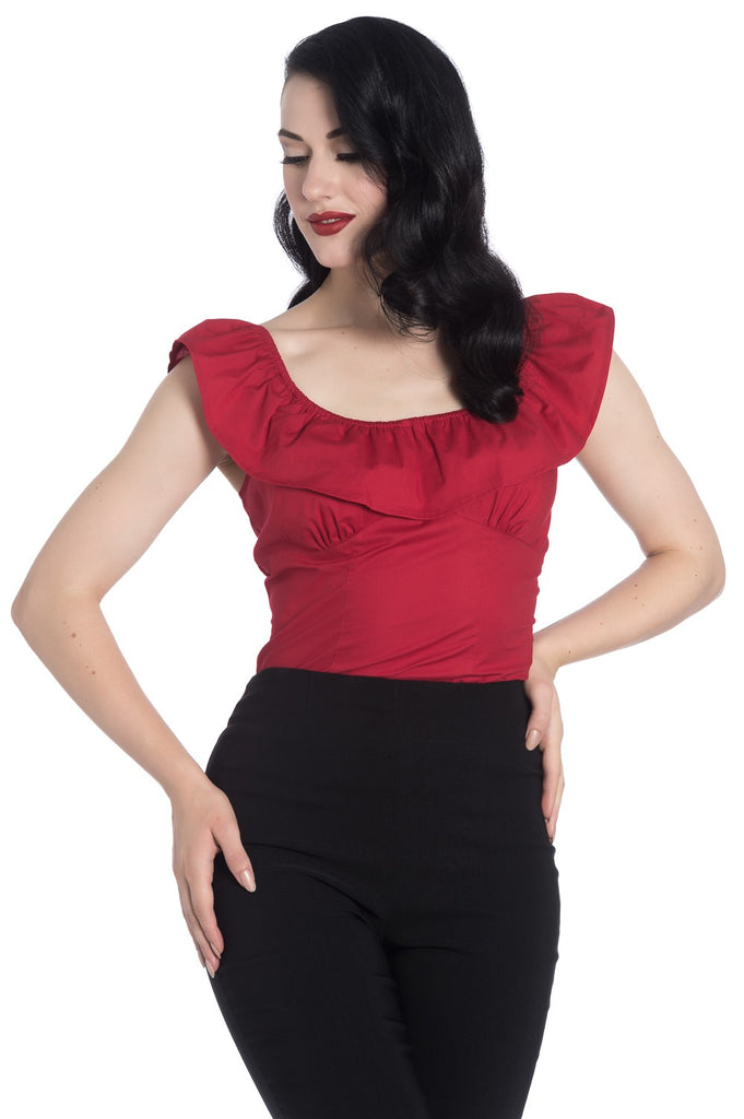 Hell Bunny Rio Top Red/Poisonkandyklothing