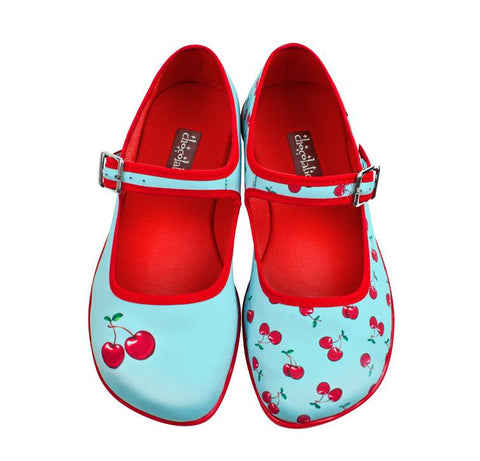 Ladies shoes - Hot Chocolate Flats Cherry design