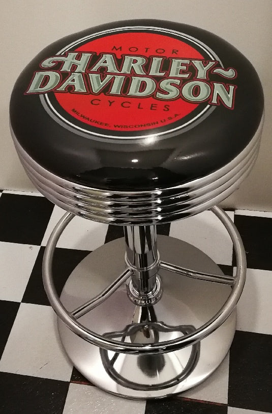Bar Stool - Harley Davidson Script, New design