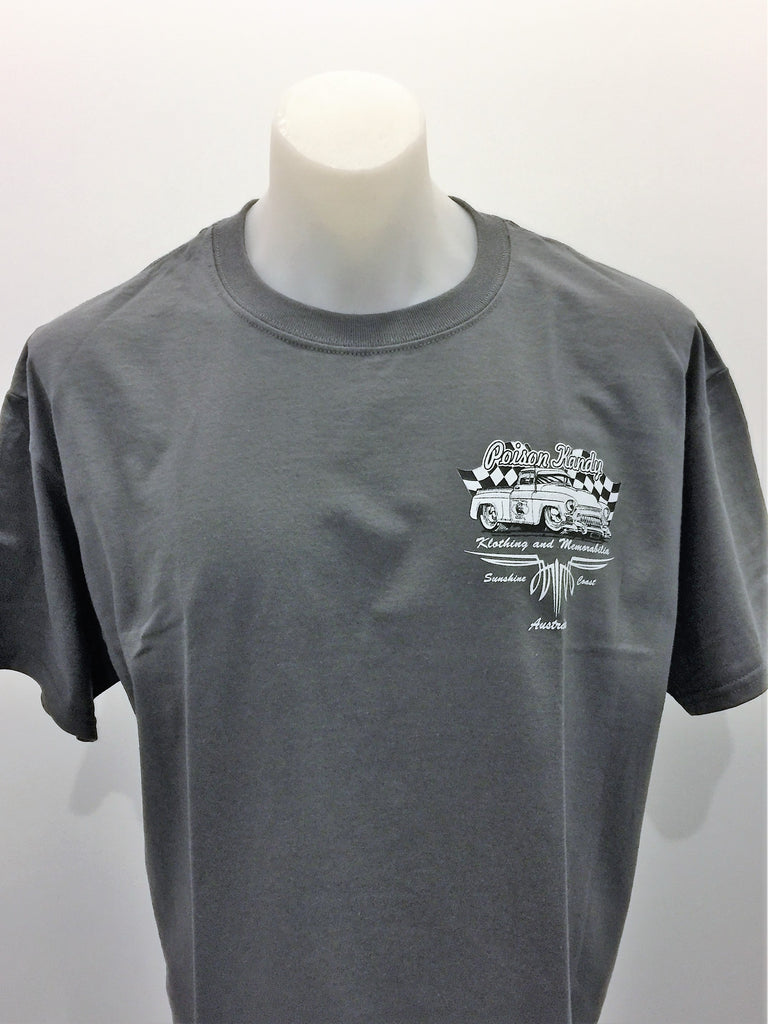 Mens T-Shirt - Poison Kandy Klothing, Chevy Pick Up- Grey