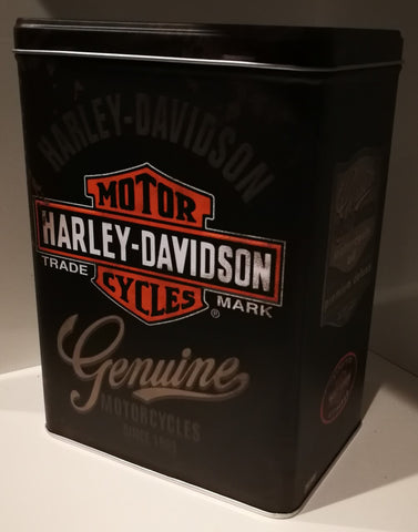 Tin Container - Harley Davidson  Genuine Motor Cycles Poison Kandy Klothing