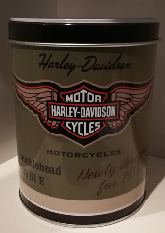 Tins Round - Harley Davidson Knucklehead Poison Kandy Klothing