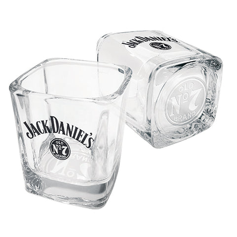 Bar Item - Jack Daniels Base Print Set Of 2 Spirit Glasses