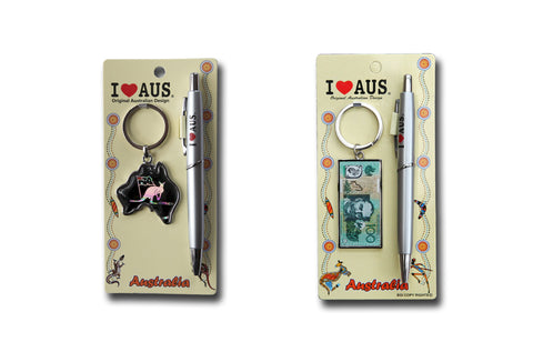 Australian Souvenirs - Pen & Key Ring Hang Set