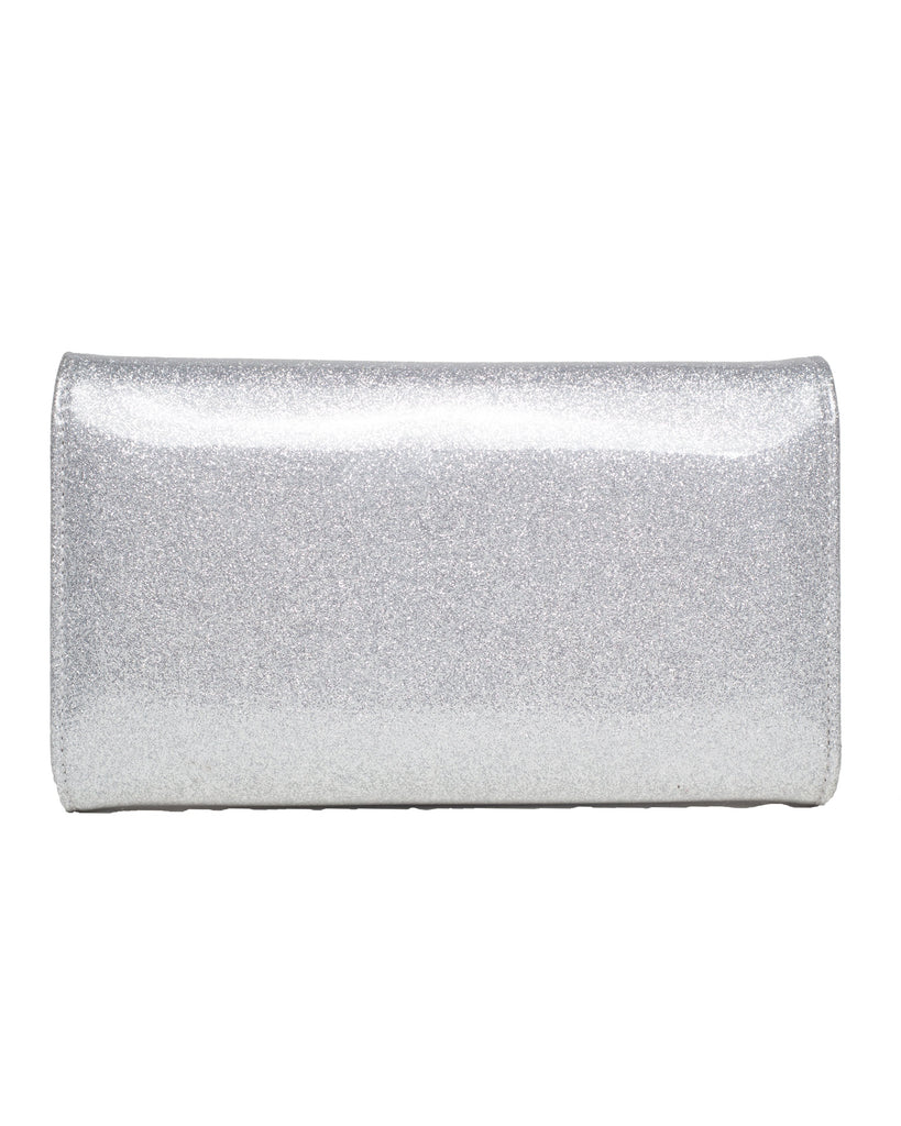 Lux De Ville Hold Fast Shiny Silver Wallet