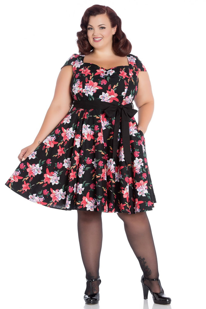 Hell Bunny - Liliana Ladies Dress Poison Kandy Klothing Australia