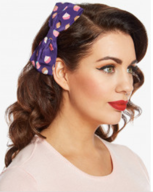 Lindy Bop Purple Cupcake Hair Bow|Poisonkandyklothing