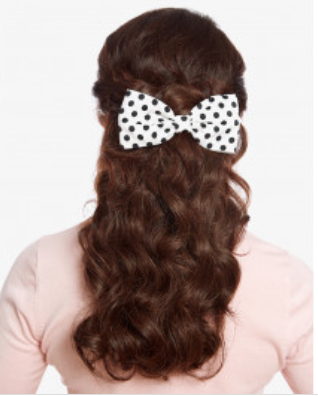 Lindy Bop White Polka Dot Hair Bow|Poisonkandyklothing